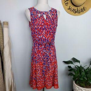 Voir Voir Fit & Flare Cut Out Midi Dress 8